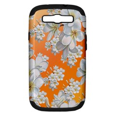 Flowers Background Backdrop Floral Samsung Galaxy S Iii Hardshell Case (pc+silicone)