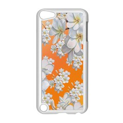 Flowers Background Backdrop Floral Apple Ipod Touch 5 Case (white)