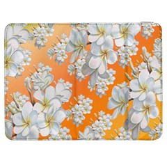Flowers Background Backdrop Floral Samsung Galaxy Tab 7  P1000 Flip Case