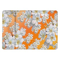 Flowers Background Backdrop Floral Samsung Galaxy Tab 10 1  P7500 Flip Case