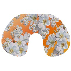 Flowers Background Backdrop Floral Travel Neck Pillows