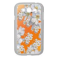 Flowers Background Backdrop Floral Samsung Galaxy Grand Duos I9082 Case (white)