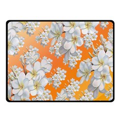 Flowers Background Backdrop Floral Double Sided Fleece Blanket (small)