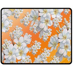 Flowers Background Backdrop Floral Double Sided Fleece Blanket (medium)