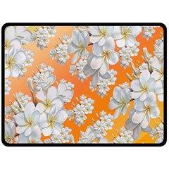 Flowers Background Backdrop Floral Double Sided Fleece Blanket (large)