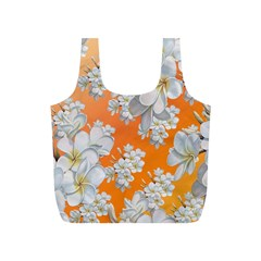 Flowers Background Backdrop Floral Full Print Recycle Bags (s)