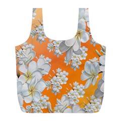 Flowers Background Backdrop Floral Full Print Recycle Bags (l)
