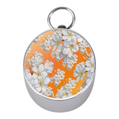 Flowers Background Backdrop Floral Mini Silver Compasses