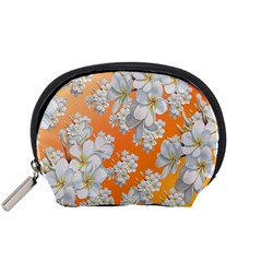 Flowers Background Backdrop Floral Accessory Pouches (small)
