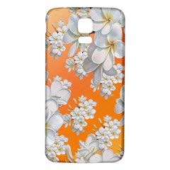 Flowers Background Backdrop Floral Samsung Galaxy S5 Back Case (white)