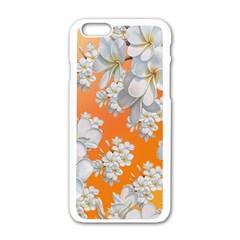 Flowers Background Backdrop Floral Apple Iphone 6/6s White Enamel Case