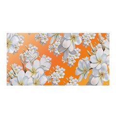 Flowers Background Backdrop Floral Satin Wrap