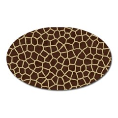 Giraffe Animal Print Skin Fur Oval Magnet