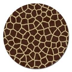 Giraffe Animal Print Skin Fur Magnet 5  (round)