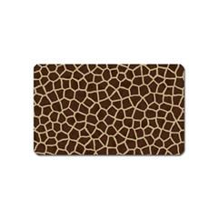 Giraffe Animal Print Skin Fur Magnet (name Card)