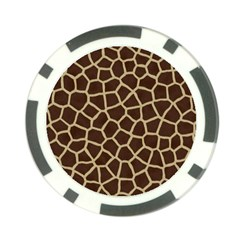 Giraffe Animal Print Skin Fur Poker Chip Card Guard (10 Pack)