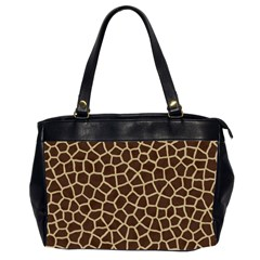 Giraffe Animal Print Skin Fur Office Handbags (2 Sides)