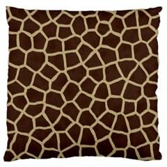 Giraffe Animal Print Skin Fur Large Cushion Case (one Side)