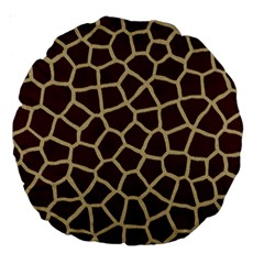 Giraffe Animal Print Skin Fur Large 18  Premium Round Cushions