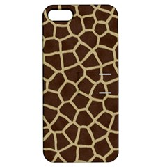 Giraffe Animal Print Skin Fur Apple Iphone 5 Hardshell Case With Stand