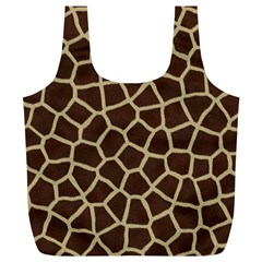 Giraffe Animal Print Skin Fur Full Print Recycle Bags (l)