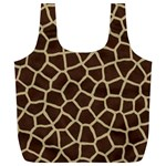 Giraffe Animal Print Skin Fur Full Print Recycle Bags (L)  Back