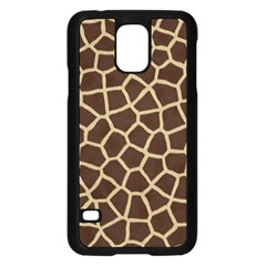 Giraffe Animal Print Skin Fur Samsung Galaxy S5 Case (black)