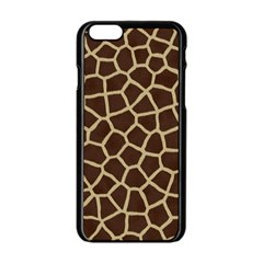 Giraffe Animal Print Skin Fur Apple Iphone 6/6s Black Enamel Case
