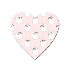 Pattern Cat Pink Cute Sweet Fur Heart Magnet