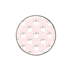 Pattern Cat Pink Cute Sweet Fur Hat Clip Ball Marker (10 Pack)