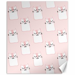 Pattern Cat Pink Cute Sweet Fur Canvas 20  X 24