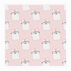 Pattern Cat Pink Cute Sweet Fur Medium Glasses Cloth