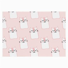 Pattern Cat Pink Cute Sweet Fur Large Glasses Cloth (2 Side)