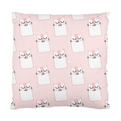 Pattern Cat Pink Cute Sweet Fur Standard Cushion Case (two Sides)