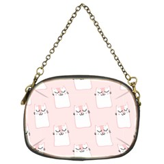 Pattern Cat Pink Cute Sweet Fur Chain Purses (two Sides)