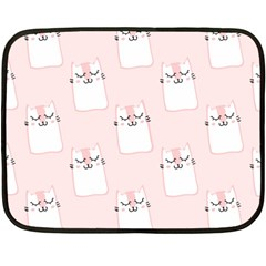 Pattern Cat Pink Cute Sweet Fur Fleece Blanket (mini)