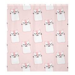 Pattern Cat Pink Cute Sweet Fur Shower Curtain 66  X 72  (large)