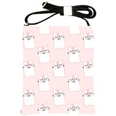 Pattern Cat Pink Cute Sweet Fur Shoulder Sling Bags