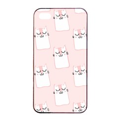 Pattern Cat Pink Cute Sweet Fur Apple Iphone 4/4s Seamless Case (black)