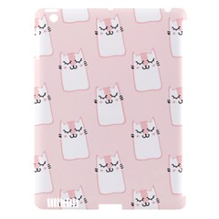 Pattern Cat Pink Cute Sweet Fur Apple Ipad 3/4 Hardshell Case (compatible With Smart Cover)