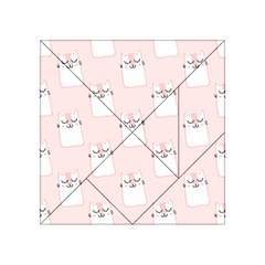 Pattern Cat Pink Cute Sweet Fur Acrylic Tangram Puzzle (4  X 4 )