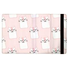 Pattern Cat Pink Cute Sweet Fur Apple Ipad 2 Flip Case