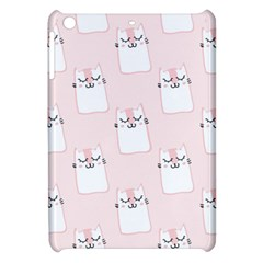 Pattern Cat Pink Cute Sweet Fur Apple Ipad Mini Hardshell Case