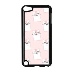 Pattern Cat Pink Cute Sweet Fur Apple Ipod Touch 5 Case (black)