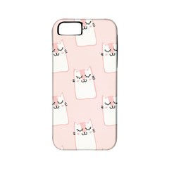 Pattern Cat Pink Cute Sweet Fur Apple Iphone 5 Classic Hardshell Case (pc+silicone)