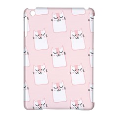 Pattern Cat Pink Cute Sweet Fur Apple Ipad Mini Hardshell Case (compatible With Smart Cover)
