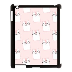 Pattern Cat Pink Cute Sweet Fur Apple Ipad 3/4 Case (black)
