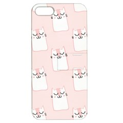 Pattern Cat Pink Cute Sweet Fur Apple Iphone 5 Hardshell Case With Stand