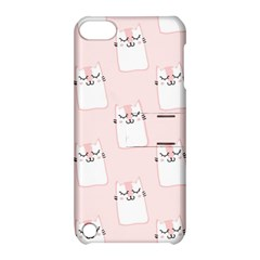 Pattern Cat Pink Cute Sweet Fur Apple Ipod Touch 5 Hardshell Case With Stand