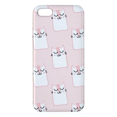 Pattern Cat Pink Cute Sweet Fur Apple Iphone 5 Premium Hardshell Case
